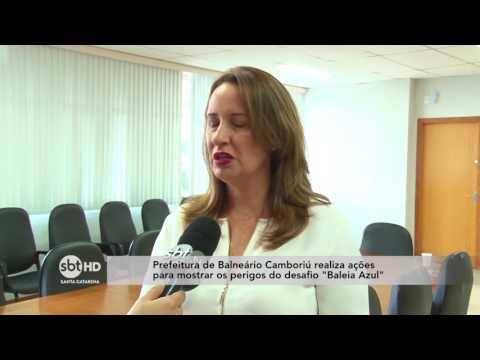 """Prefeitura de Balneário Camboriú realiza ações para mostrar os perigos do desafio """"Baleia Azul"""""""