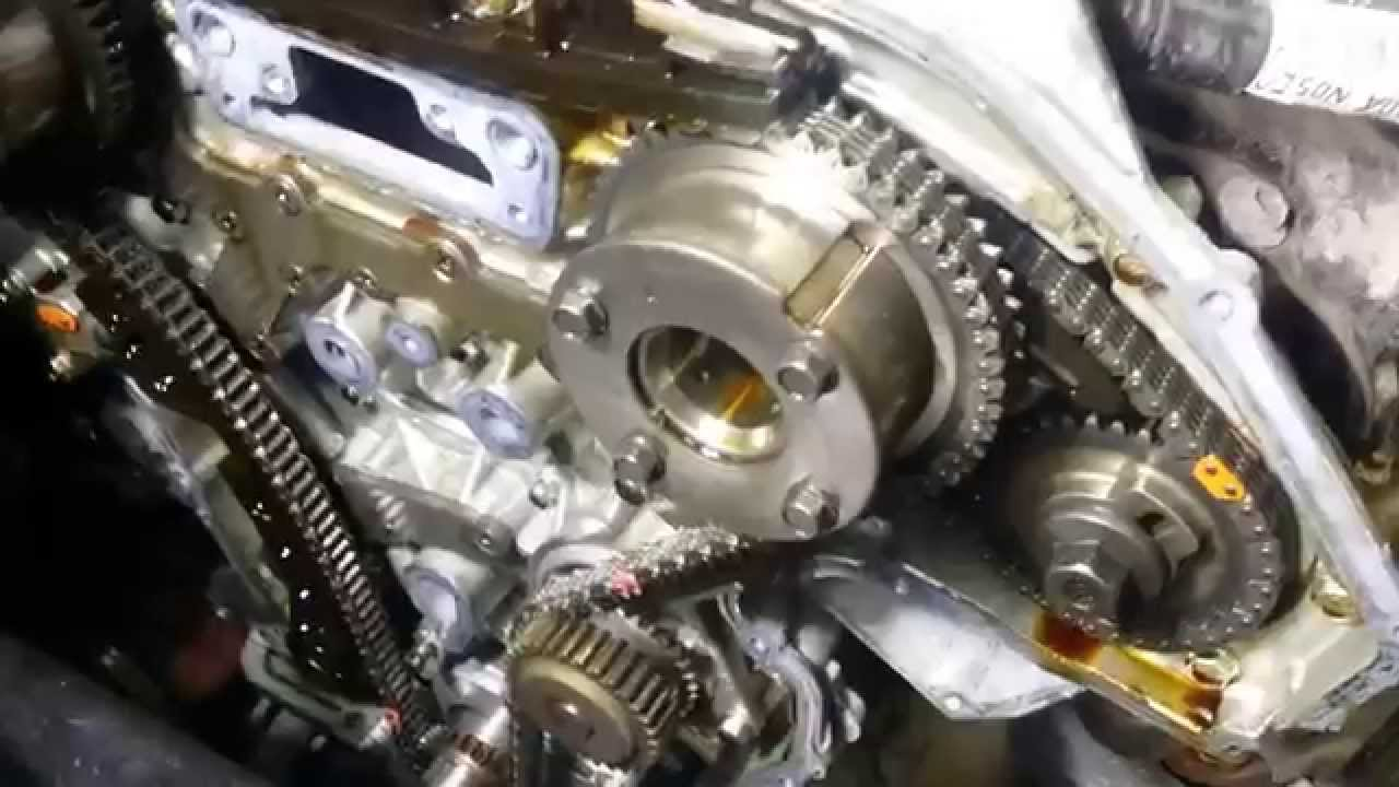 2003 hyundai elantra engine diagram wiring alternator nissan 3.5l timing chain cover replacement part 1 - youtube