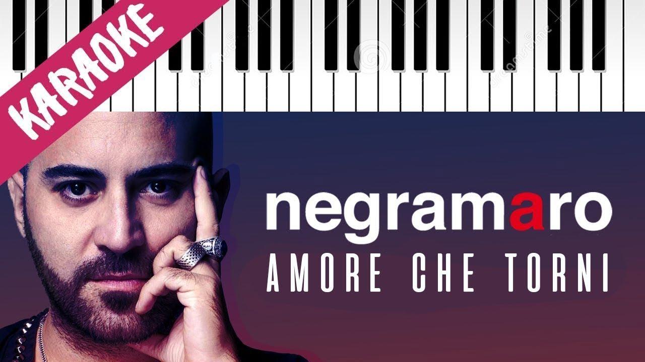 Negramaro Amore Che Torni Piano Karaoke Con Testo Chords Chordify