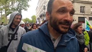 Manif fonctionnaires Lyon 9 mai 2019 010 Nicolas prof des écoles SNiupp vidéo