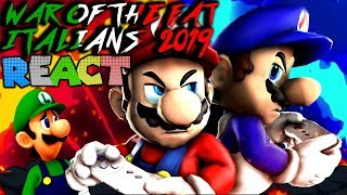 LUIGIKID REACTS TO: WAR OF THE FAT ITALIANS 2019 by SMG4