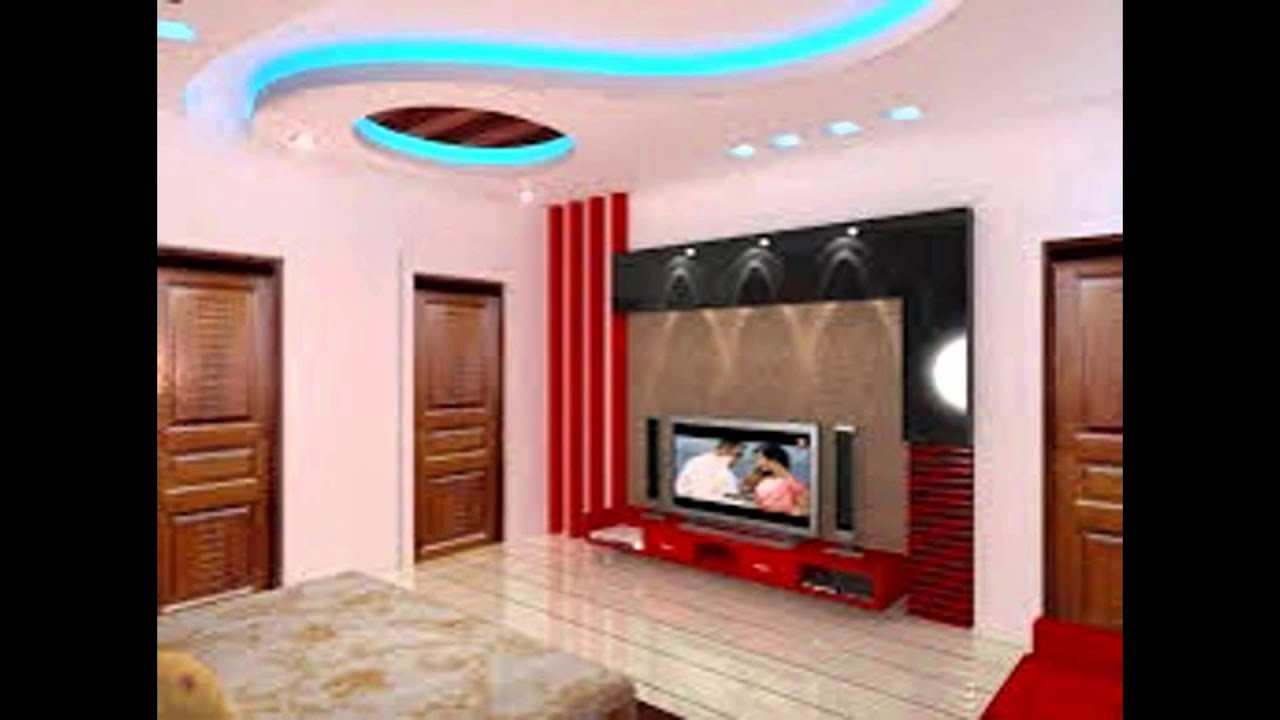 Pop design for living room youtube for Interior decoration living room roof