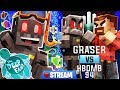 Minecraft The Deep End SMP Stream 5: Graser VS HBomb