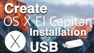 كيفية إنشاء نظام التشغيل Mac OS X كابيتان أقراص USB قابل للتشغيل