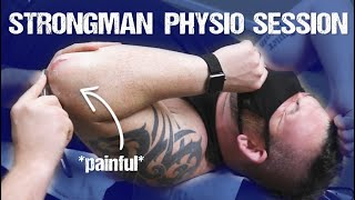 STRONGMAN PHYSIO SESSION - Rob Kearney Triceps Rehab