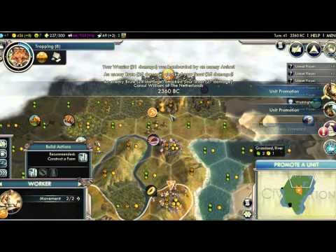 Let's Play - Civilization V: William of Orange Part 1: Thish ish Hard (Better Sound)