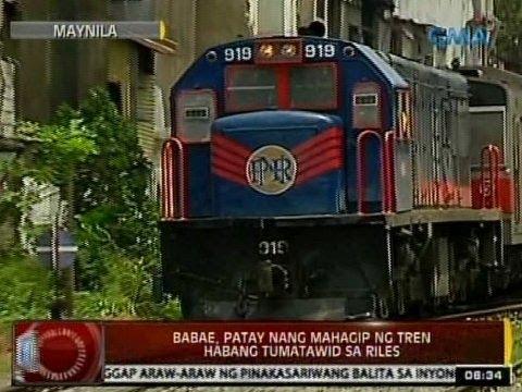 24Oras: Babae, patay nang mahagip ng tren habang tumatawid sa riles sa Maynila