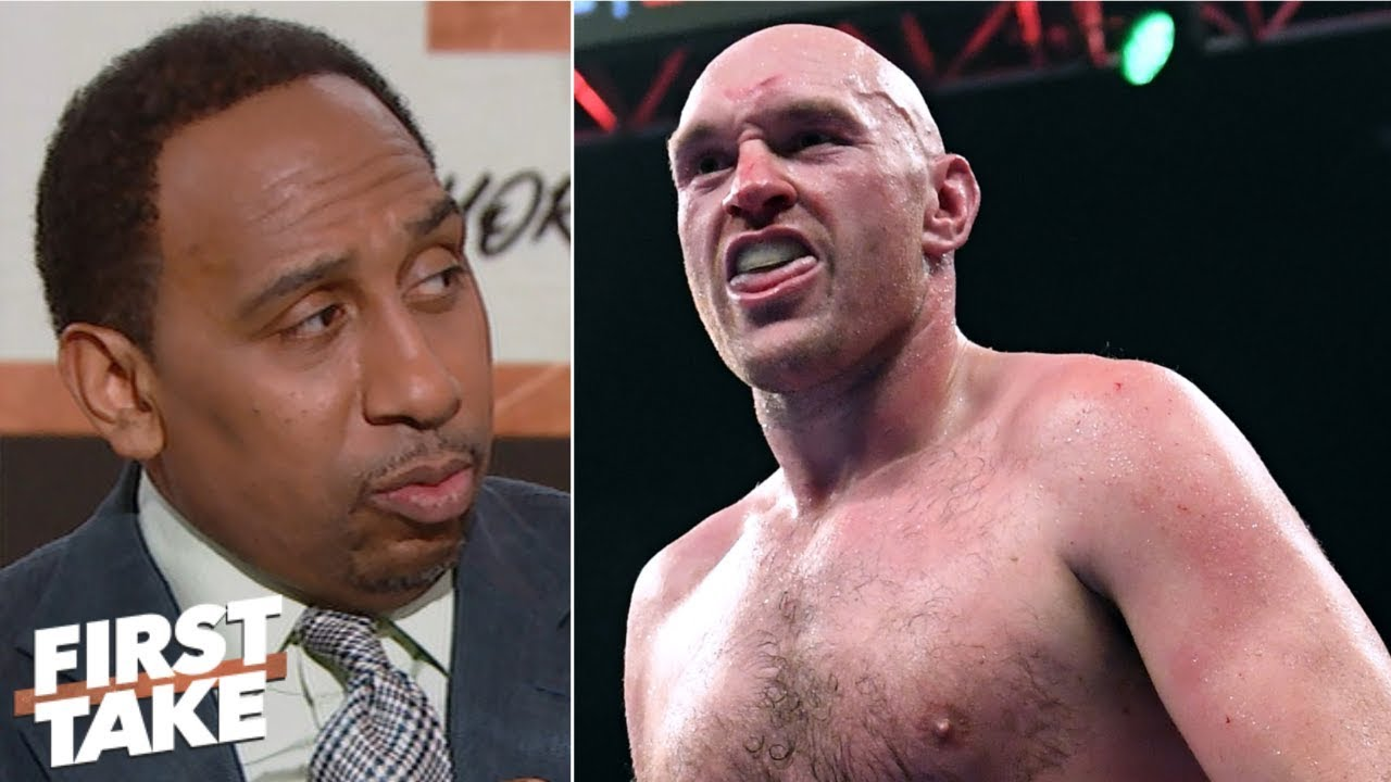 Tyson Fury brilliant for accusing Anthony Joshua of ducking Deontay Wilder - Stephen A. | First Take image