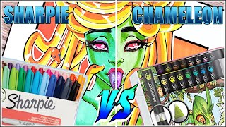 Sharpie Markers Vs Chameleon Markers | Sharpie Vs Chameleon | Marker Review
