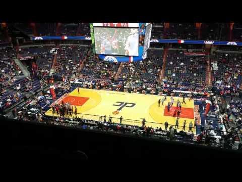 My first NBA Game Washington Wizards vs portland trail blazers @ Verizon Center
