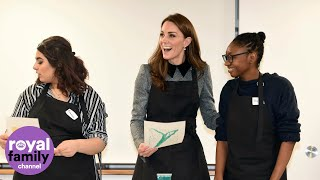 Duchess of Cambridge shows off lino printing skills