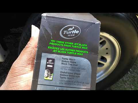Turtle Wax Jet Black Endura Shine Tire Coating Test Review Wow
