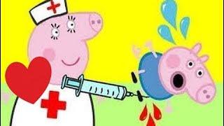 Свинка Пеппа новые серии - Джордж заболел, мама доктор делает укол, лечит