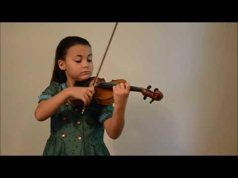 Romanian Folk Dances by Béla Bartók || Leila Warren, 8 yrs
