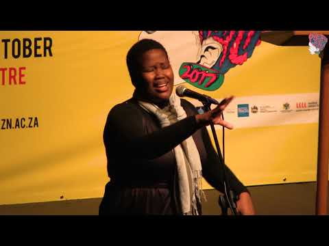 SIPHOKAZI JONAS AT POETRY AFRICA 2017