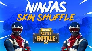 Ninja's Skin Shuffle! - Fortnite Battle Royale Gameplay - Ninja