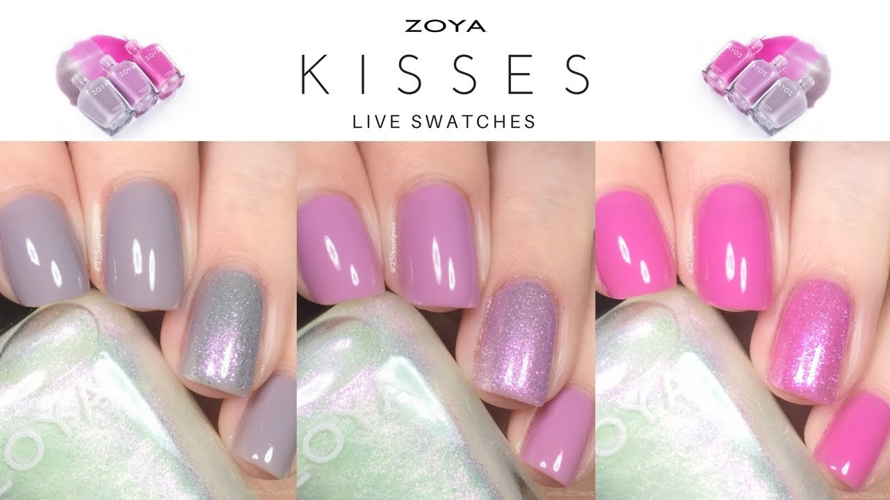 Zoya kisses live swatches youtube zoya kisses live swatches reheart Choice Image