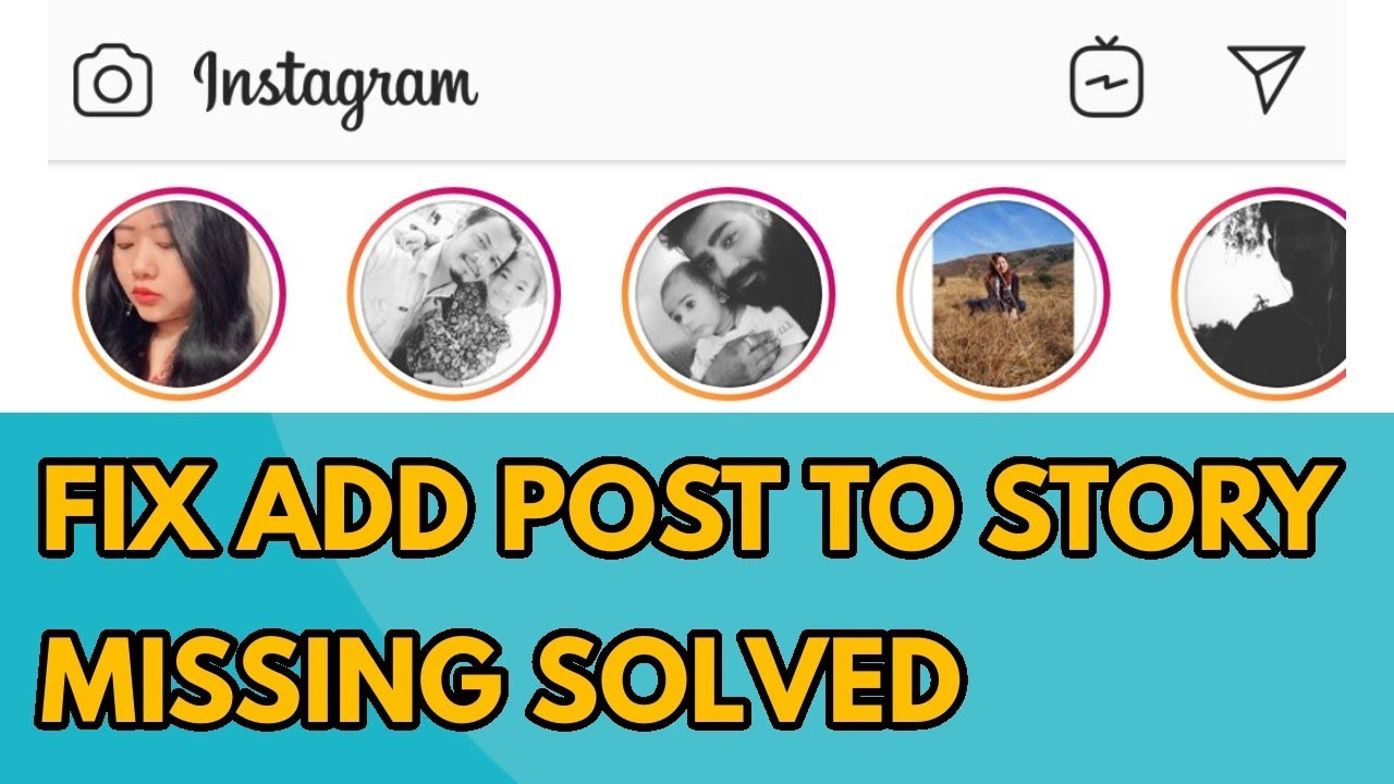 Fix Instagram Add Post to Your Story Missing & Not Showing Problem Solved