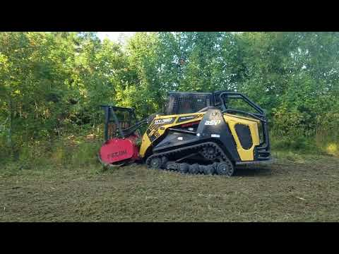 Forestry Mulching Retention Pond
