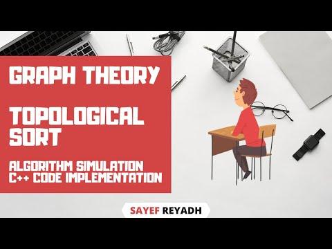 Topological Sort Algorithm Simulation C++ Code in Bangla - বাংলা