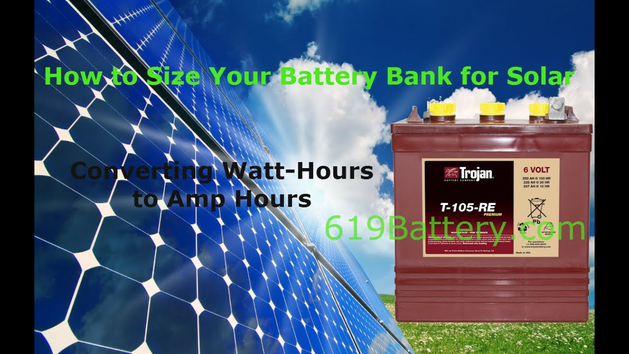 How To Size A Battery Bank For Rv Solar Marine Youtube Electric Systems Information