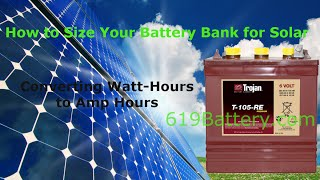HOW TO SIZE A BATTERY BANK FOR RV-SOLAR-MARINE
