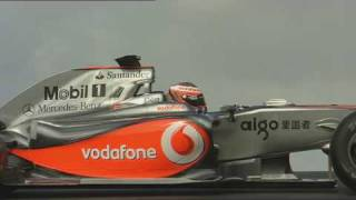 F1 Mclaren Mercedes MP4-24 on Track