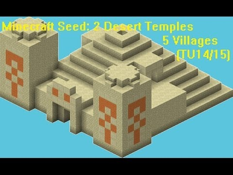 Minecraft seed Xbox 360/PS3 (TU16) #8 2 desert temples and 5 villages
