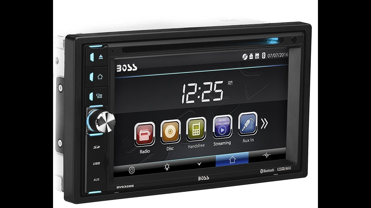 boss audio bv9358b double din touchscreen bluetooth car audio review youtube. Black Bedroom Furniture Sets. Home Design Ideas