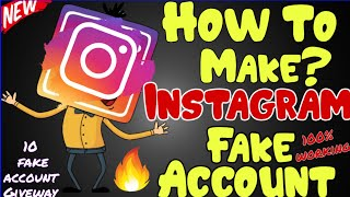 How To make Instagram fake account only 2 minutes   Instagram unlimited fake account trick 2019🔥🔥