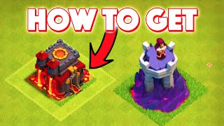 Clash of Clans - HOW TO GET RED FLAG! + NEW LEVEL 9 WIZARD TOWERS AND LABORATORY! CoC New Update