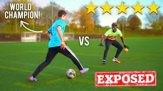 I Challenged the WORLD CHAMPION To A PANNA Football Competition I GOT NUTMEGGED