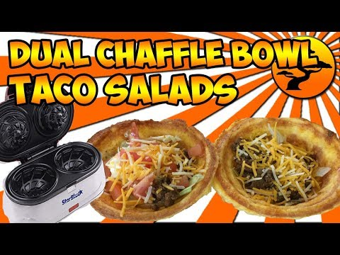 AMAZING CHAFFLE BOWL KETO TACO SALAD - YOU MUST TRY THESE!