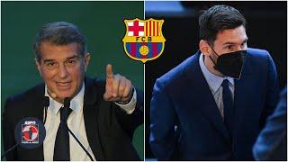 BARCELONA Joan Laporta ENCARÓ a Lionel Messi. ¿Se va o se queda el argentino? | Fuera de Juego