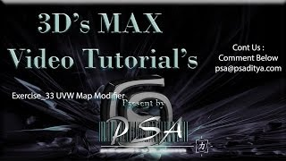 3ds MAX Video Tutorial Exercise 33 UVW Map Modifier by Aditya Polisetti