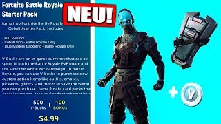 Fortnite KOBALT Skin STARTER PACK 5 easy to get! | SO GEHTS! - Fortnite Battle Royale English