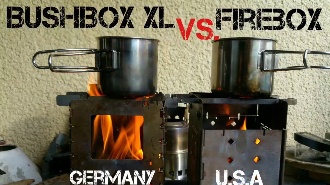 Firebox Vs Bushbox Xl Bushcraft Essentials Youtube