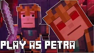 Play As Petra - Petra's Sister vs Petra Chipped (Glitch) Minecraft Story Mode Episode 7