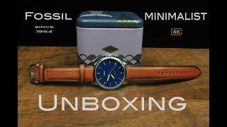Fossil Minimalist FS5304 Unboxing [4k]