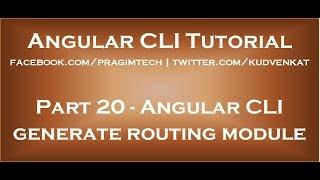 الزاوي CLI إنشاء وحدة التوجيه