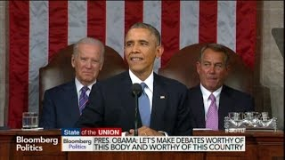 """Obama """"Won Both of them,"""" State of the Union Ad Lib"""