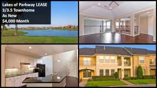 Houston Townhome Lease, Manned Gate, As New, 3/3.5, Lake View, Lakes Of Parkway, Granite,wood Floors