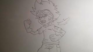 How to draw Tai Kamiya/Yagami (from Digimon)