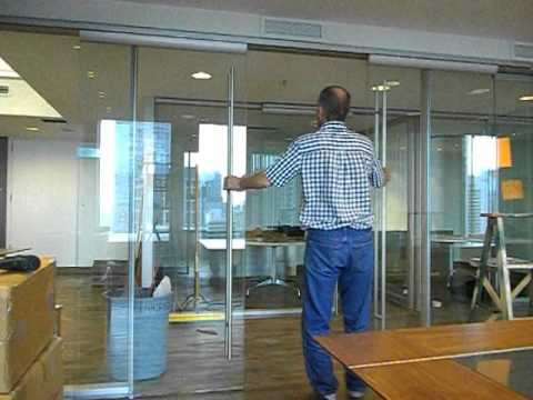 Tor Frameless Glass Double Barn Dirtt Doors Avi Youtube