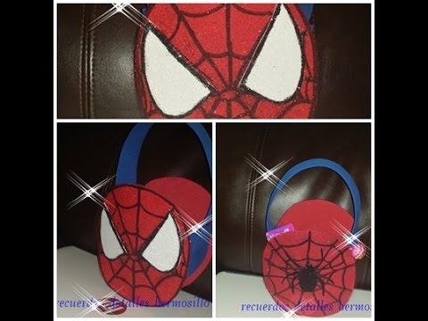 Diy como hacer dulcero hombre ara a spiderman estampado - Como hacer tela de arana ...