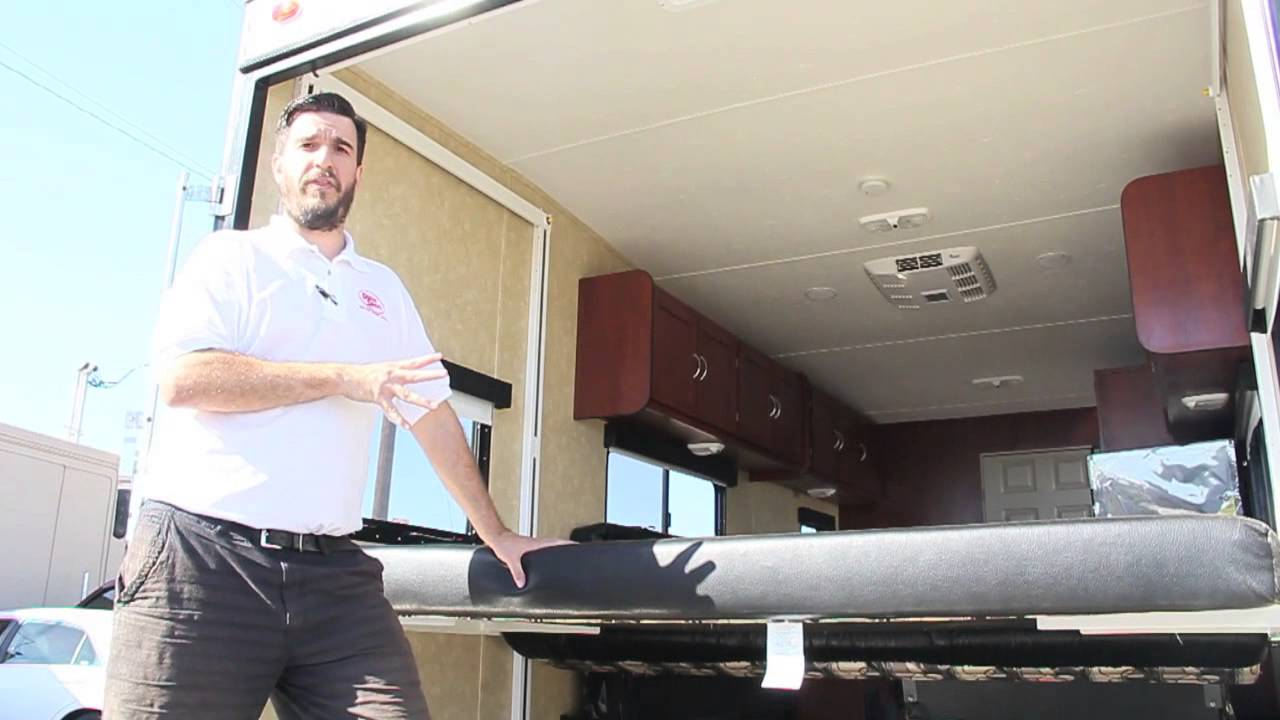 Toy Hauler 101  Electric Bed Rear Setup  YouTube