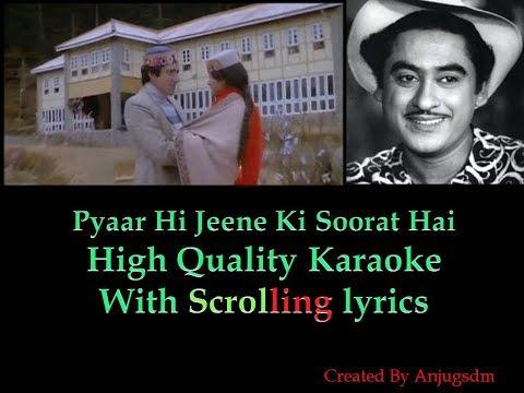 Pyaar Hi Jeene Ki Soorat Hai    Armaan (1981)     karaoke with scrolling lyrics (High Quality)