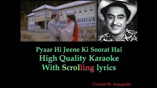Pyaar Hi Jeene Ki Soorat Hai || Armaan (1981) || karaoke with scrolling lyrics (High Quality)