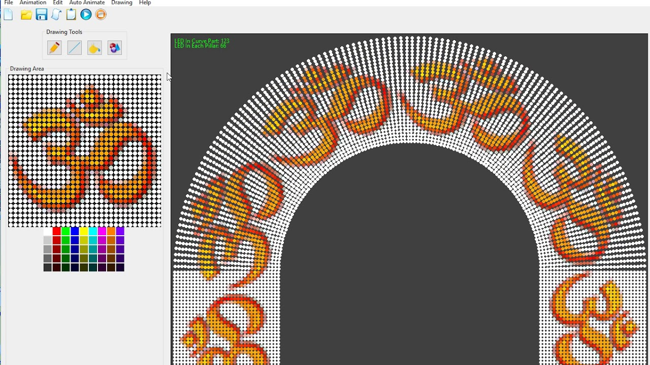 Pixel Led Arch Gate Design Software In Progress Youtube