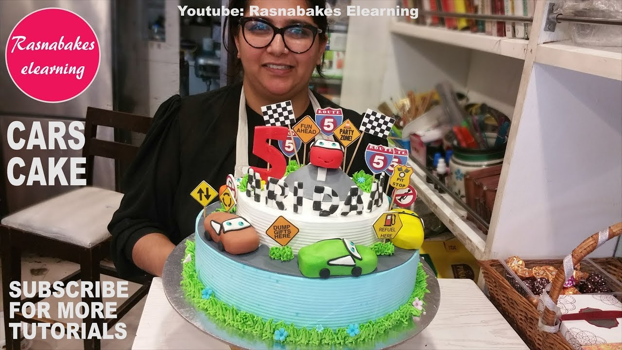 Lightning Mcqueen Cakedisney Cars Kids Birthday Cakecar Cake Decorating Tutorial Classes Video